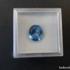 Collezionismo di gemme: TOPACIO AZUL RECONSTITUIDO TALLA OVAL. MED.16 X 13 MM. PESO 7,50 CTS. SUIZA. SIGLO XX. Lote 236103775