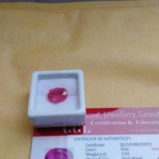 Coleccionismo de gemas: ZAFIRO NATURAL ROSA DE 5,92CT. Lote 241811770