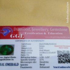 Colecionismo de pedras preciosas: ESMERALDA NATURAL DENDRITICA COLOMBIANA DE 9,02CTCT.. Lote 241820490