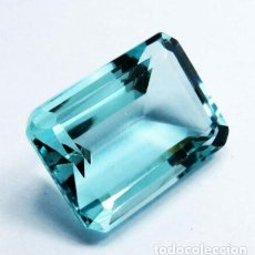 Collezionismo di gemme: BONITA AGUAMARINA HYDRO DE BRASIL CORTE ESMERALDA CON 22 CT.. Lote 241838320