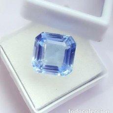 Coleccionismo de gemas: TOPACIO CZOCHRALSKI TIPO LIGHT BLUE TALLA CUADRADA CON 11.67 CT. CERTIFICADO. Lote 243473630