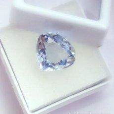 Coleccionismo de gemas: TOPACIO CZOCHRALSKI TIPO LIGHT BLUE TALLA PERA CON 5.77 CT CERTIFICADO.. Lote 243474655