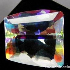Coleccionismo de gemas: BONITO TOPACIO MÍSTICO NATURAL DE BRASIL FANCY CON 55.40 CT.. Lote 243873370