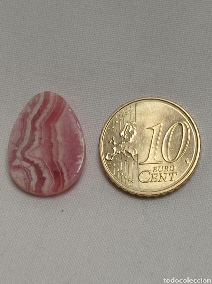 Coleccionismo de gemas: Precioso cabuchón de rodocrosita en forma de gota - Foto 5 - 243932185