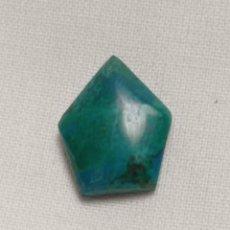 Coleccionismo de gemas: PRECIOSO CABUCHÓN DE CRISOCOLA EXCELENTE CALIDAD. Lote 243932330