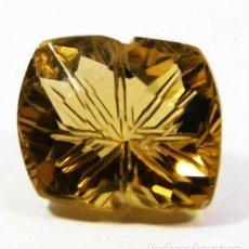 Coleccionismo de gemas: PRECIOSO TOPACIO BRIDMAN AMARILLO DORADO TALLA FANCY ESCULPIDA CON 3.50 CT.. Lote 244567375