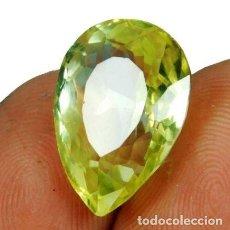 Coleccionismo de gemas: PRECIOSO ZAFIRO AMARILLO NATURAL DE SRI LANKA. TALLA DE PERA CON 12.75 CT.. Lote 244582195