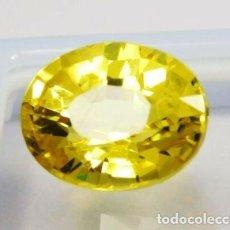 Coleccionismo de gemas: PRECIOSO ZAFIRO AMARILLO STOCKBARGER DE SRI LANKA. OVAL CON 11.00 CT.. Lote 244589360