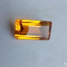 Coleccionismo de gemas: PRECIOSO CITRINO HYDRO DE BRASIL CON TALLA ESMERALDA Y 24.5 CT.. Lote 247356860
