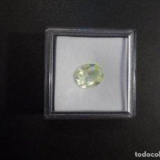 Coleccionismo de gemas: PERIDOTO RECONSTITUIDO TALLA OVAL. MEDIDA 14 X 12 MM. PESO 5,15 CTS. SUIZA. SIGLO XX. Lote 247516150
