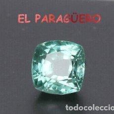 Coleccionismo de gemas: AGUAMARINA AZUL MAR DE 9 KILATES CERTIFICADO AGI MEDIDA 1,3X1,3X0,7 CENTIMETROS-P17. Lote 247530635