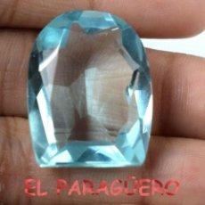 Coleccionismo de gemas: AGUAMARINA AZUL MAR DE 39,75 KILATES CERTIFICADO AGI MEDIDA 2,5X2,0X1,1 CENTIMETROS-P20. Lote 247532345