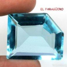 Coleccionismo de gemas: AGUAMARINA AZUL MAR DE 48,95 KILATES CERTIFICADO AGI MEDIDA 2,7X2,1X1,1 CENTIMETROS-P23. Lote 247535365