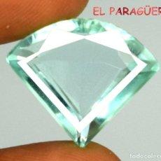 Coleccionismo de gemas: AGUAMARINA AZUL MAR DE 37,70 KILATES CERTIFICADO AGI MEDIDA 2,4X2,2X1,0 CENTIMETROS-P24. Lote 247535825