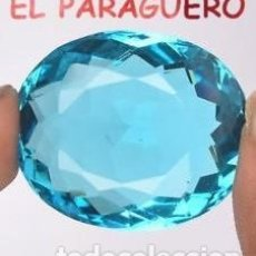 Colecionismo de pedras preciosas: AGUAMARINA AZUL MAR DE 46,30 KILATES CERTIFICADO AGI MEDIDA 2,7X2,2X1,2 CENTIMETROS-P30. Lote 247540250