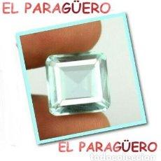 Coleccionismo de gemas: AGUAMARINA AZUL MAR DE 9,60 KILATES CERTIFICADO AGI MEDIDA 1,2X1,1X0,8 CENTIMETROS-P31. Lote 268937379
