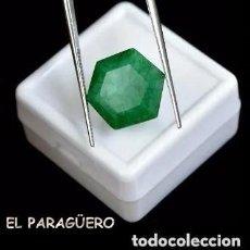 Coleccionismo de gemas: ESMERALDA DECOLOMBIA EXAGONAL VERDE DE 6,40 KILATES CERTIFICADO AGI MEDIDA 1,3X1,1X0,6 CENTIMETROSN8. Lote 247777325