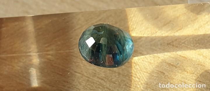 Coleccionismo de gemas: Zafiro verde azulado . - Foto 3 - 267604434