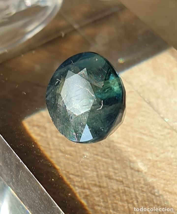 Coleccionismo de gemas: Zafiro verde azulado . - Foto 4 - 267604434