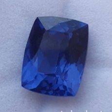 Collezionismo di gemme: ESPECTACULAR NATURAL TANZANITA AZUL CERTIFICADA DE 9.22 QUILATES. Lote 248269150