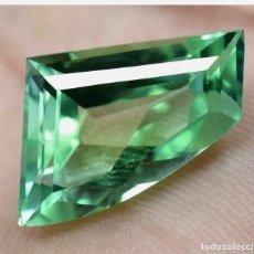 Collezionismo di gemme: ZAFIRO NATURAL VERDE ESPUMOSO DE 16,15CT.. Lote 249543450