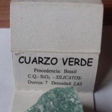Coleccionismo de gemas: MINERAL DE CUARZO VERDE PARA PULIR ORIGEN BRASIL. Lote 251711465
