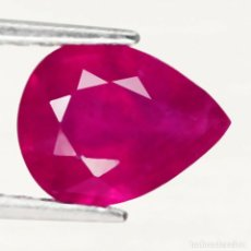 Coleccionismo de gemas: RUBI PERA 9,0 X 6,9 MM.. Lote 252681945