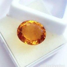 Coleccionismo de gemas: MAGNÍFICO CITRINO NATURAL DE BRASIL TALLA OVAL CON 10.62 CT. CERTIFICADO. Lote 253129215