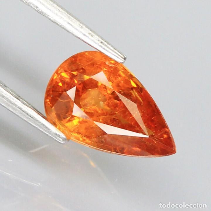 Coleccionismo de gemas: Espesartita 8,9 x 5,6 mm. - Foto 2 - 253339795