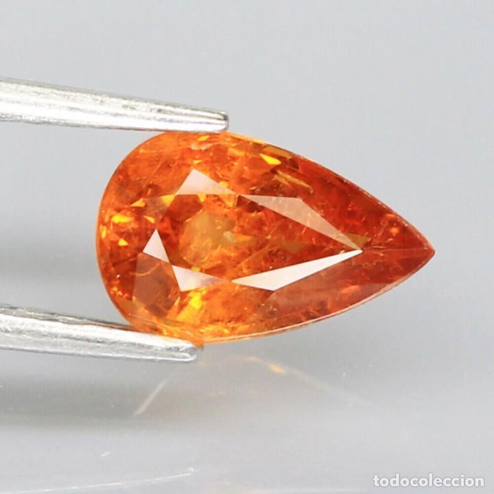 ESPESARTITA 8,9 X 5,6 MM. (Coleccionismo - Mineralogía - Gemas)
