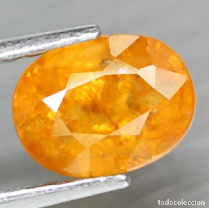 Coleccionismo de gemas: Espesartita 7,6 x 5,7 mm - Foto 2 - 253347225