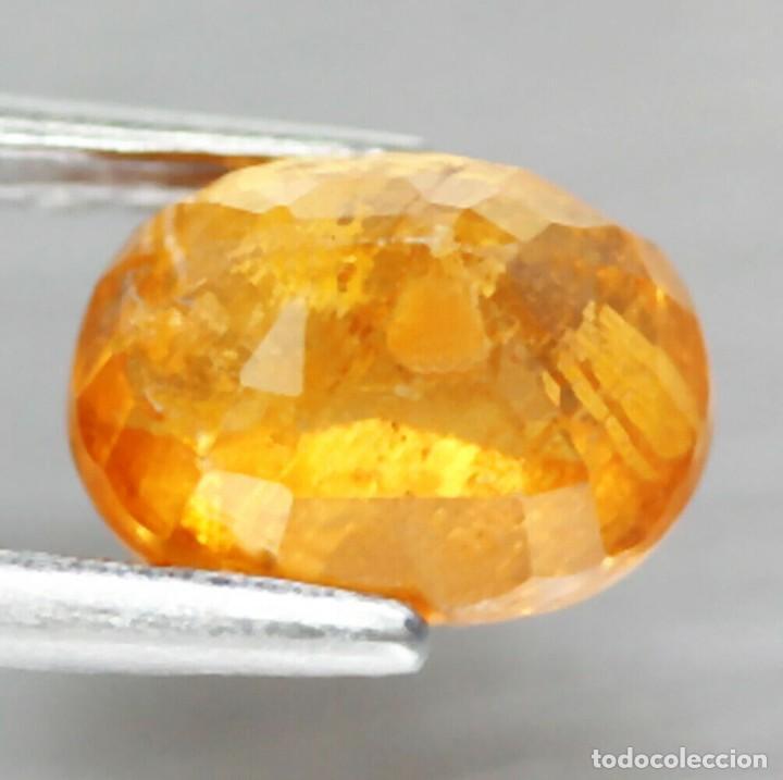 Coleccionismo de gemas: Espesartita 7,6 x 5,7 mm - Foto 3 - 253347225