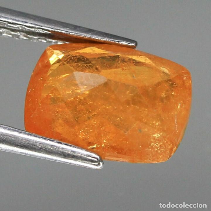 Coleccionismo de gemas: Espesartita 9,3 x 6,8 mm. - Foto 3 - 253348425