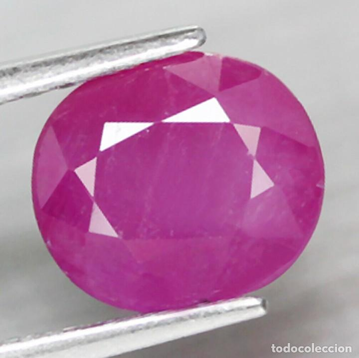RUBI OVAL 8,0 X 7,1 MM. (Coleccionismo - Mineralogía - Gemas)