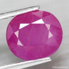 Coleccionismo de gemas: RUBI OVAL 8,0 X 7,1 MM.. Lote 253349890