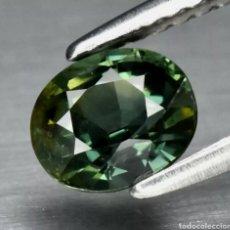 Coleccionismo de gemas: ZAFIRO NATURAL 0.94CT 5.8X5MM ZAFIRO VERDE AZULADO NATURAL SIN CALEFACCIÓN OVALADO, AUSTRALIA. Lote 253478850