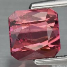 Coleccionismo de gemas: TURMALINA ROSA PURPÚREA NATURAL CORTADA EN TIJERA DE 1.20 QUILATES SIN CALENTAR MOZAMBIQUE. Lote 272907763