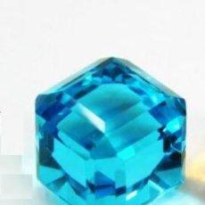 Coleccionismo de gemas: TOPACIO STOCKBARGER DE BRASIL AZUL MAR TALLA CÚBICA CON 43 CT.. Lote 253945480