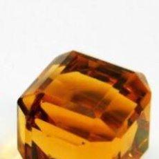 Coleccionismo de gemas: TOPACIO STOCKBARGER DE BRASIL AMARILLO MIEL TALLA CÚBICA CON 38 CT.. Lote 253946835