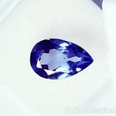 Coleccionismo de gemas: TANZANITA BRIDGMAN AZUL TALLA DE PERA CON 5.45 CT. CERTIFICADA GGL.. Lote 253951320