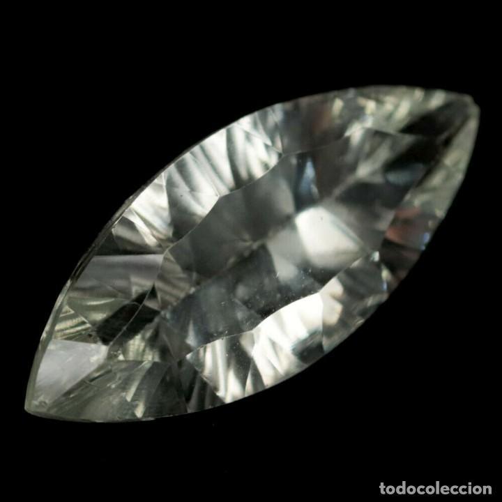 AMATISTA VERDE (PRASIOLITA) 25,0 X 10,8 MM (Coleccionismo - Mineralogía - Gemas)