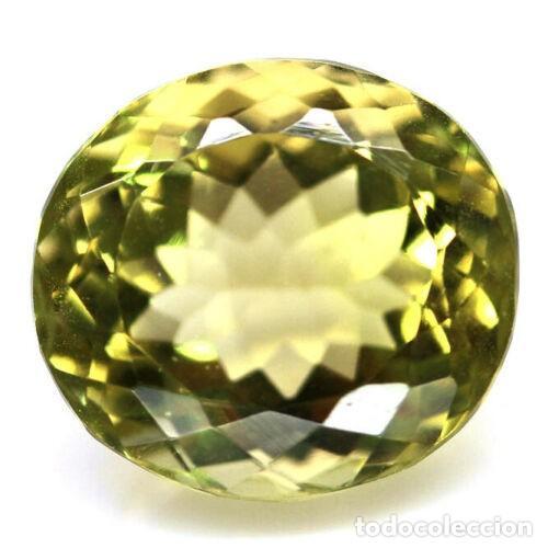 CUARZO OVAL 14,6 X 13,2 MM. (Coleccionismo - Mineralogía - Gemas)