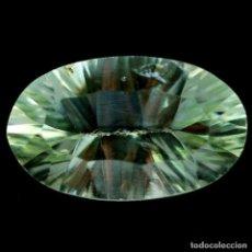 Collezionismo di gemme: AMATISTA VERDE (PRASIOLITA) 16,5 X 10,1 MM. Lote 257354060