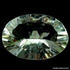 Coleccionismo de gemas: AMATISTA VERDE (PRASIOLITA) 17,4 X 12,0 MM. Lote 257356495