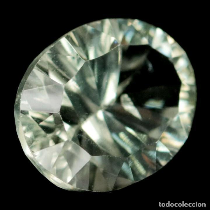 AMATISTA VERDE (PRASIOLITA) 14,2 X 11,0 MM (Coleccionismo - Mineralogía - Gemas)