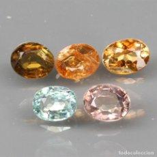 Coleccionismo de gemas: TURMALINA OVAL 4,9 X 4,1 MM. LOTE DE 5 PIEZAS. Lote 258221905