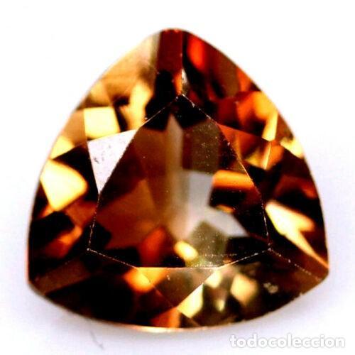 TOPACIO CHAMPANG 9,0 X 9,0 MM (Coleccionismo - Mineralogía - Gemas)
