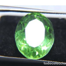 Coleccionismo de gemas: PRECIOSO TOPACIO HYDRO VERDE MANZANA TALLA OVAL DE BRASIL CON 9.05 CT.. Lote 261248935