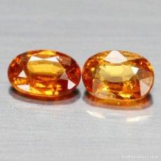 Coleccionismo de gemas: ESPESARTITA OVAL 6,5 X 4,4 MM. LOTE DE DOS. Lote 261303770