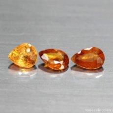 Coleccionismo de gemas: ESPESARTITA 5,3 X 4,4 MM. LOTE DE 3. Lote 261304195